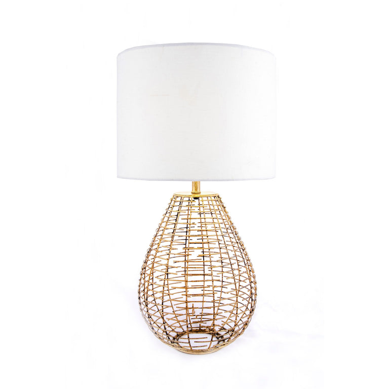 BRASS WIRE TABLE LAMP - 27
