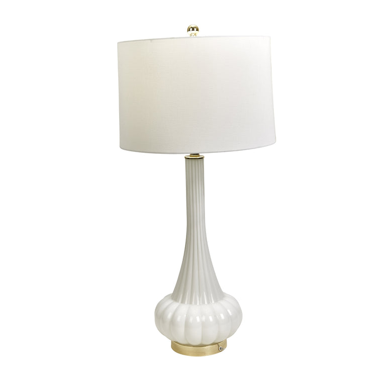 WHITE GENIE BOTTLE TABLE LAMP