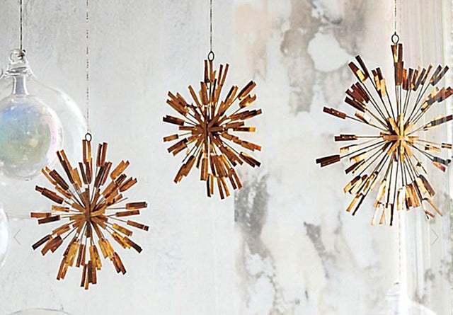 BRASS STARBURST ORNAMENTS