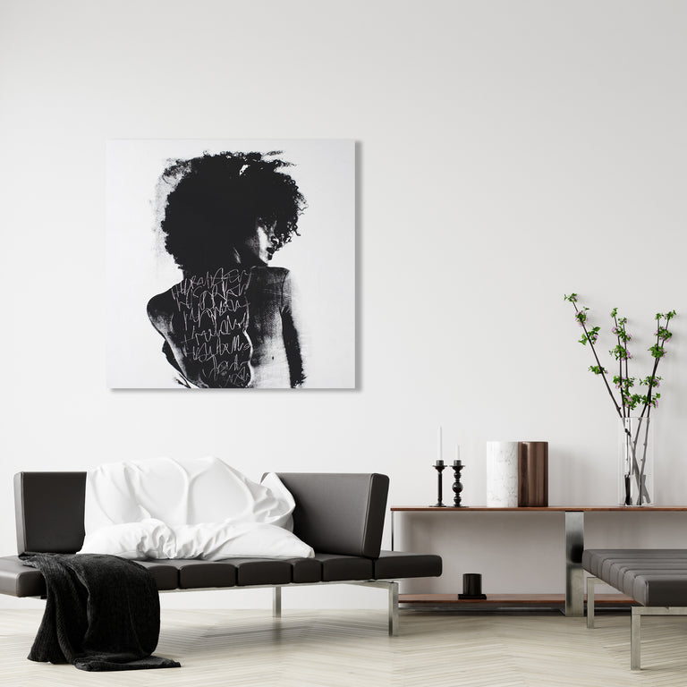 To Write Graffiti on Her Back by Addison Jones | stretched canvas wall art