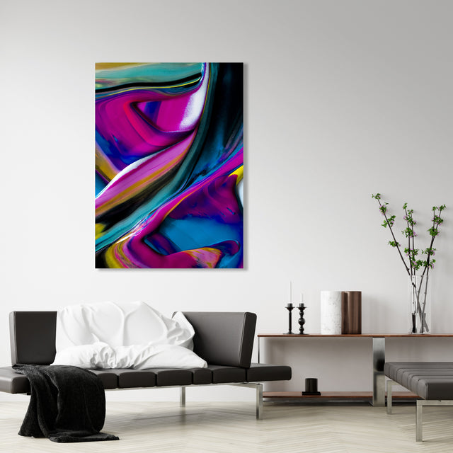Movement in Purple 9116 by Addison Jones | stretched canvas wall art