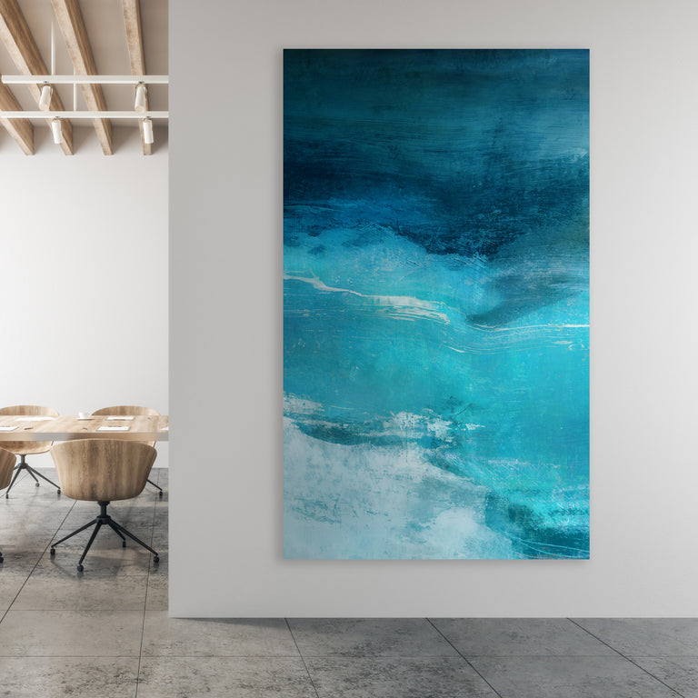 Indigo Sky II by Barclay Butera | stretched canvas wall art