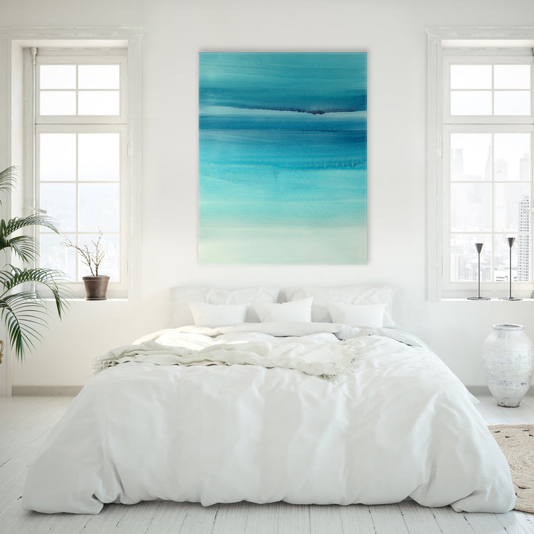Clear Blue II by Barclay Butera | stretched canvas wall art