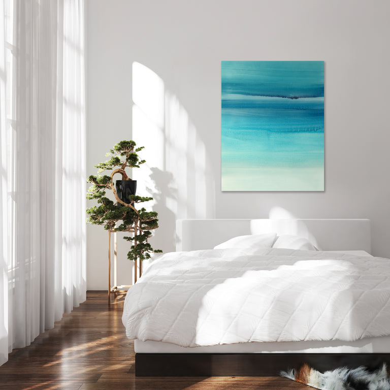 Clear Blue II by Barclay Butera (Canvas Wall Art)