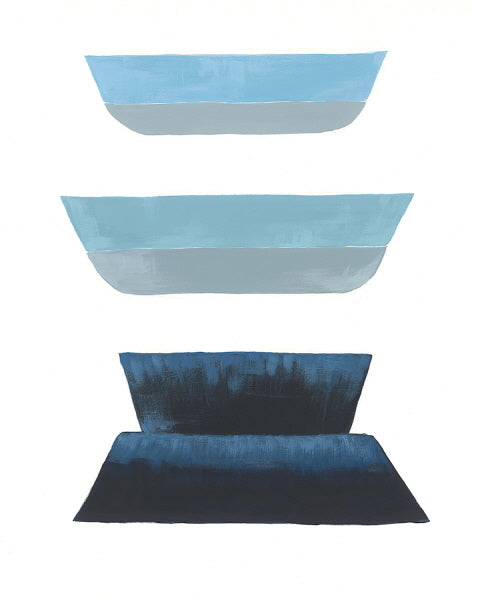 Blue Shape III | stretched canvas wall art