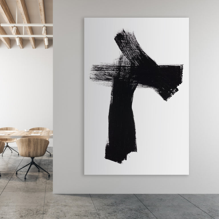 Black by FORM Design Studio | stretched canvas wall art