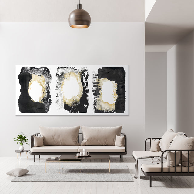 how wonderful it is triptych by FORM Design Studio | stretched canvas wall art