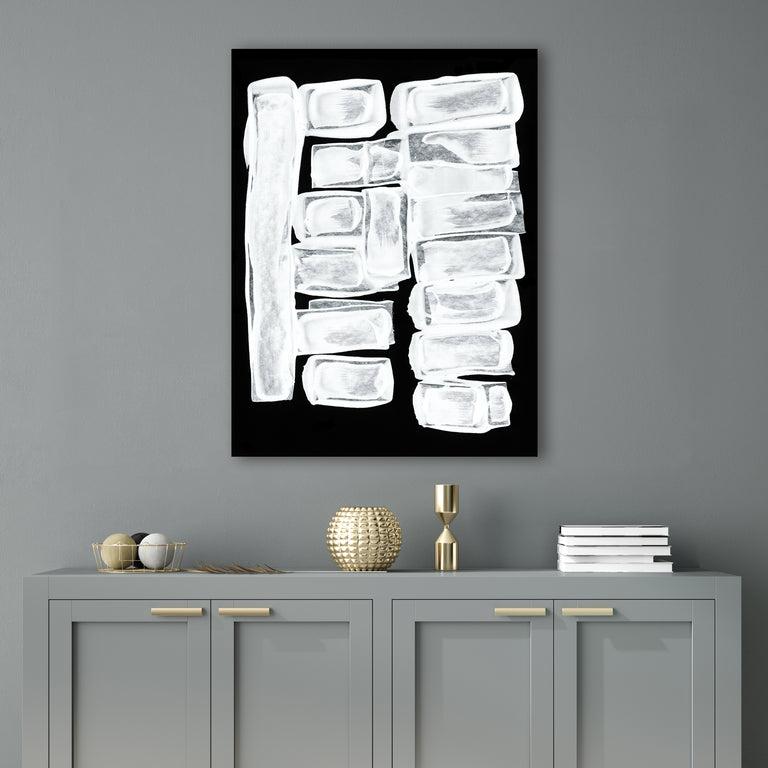 study in white II by FORM Design Studio | stretched canvas wall art