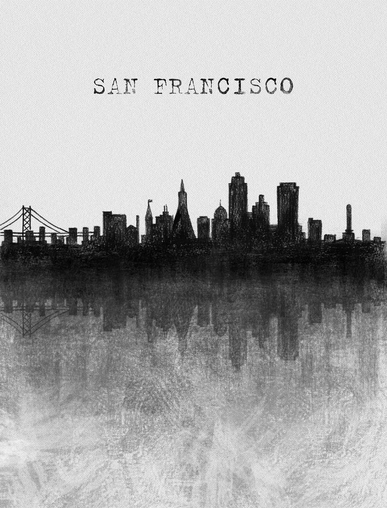 Skyline-San Francisco by Peyton Gray | stretched canvas wall art