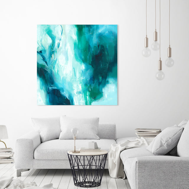 Falling into Your Blue by Giselle Kelly | stretched canvas wall art