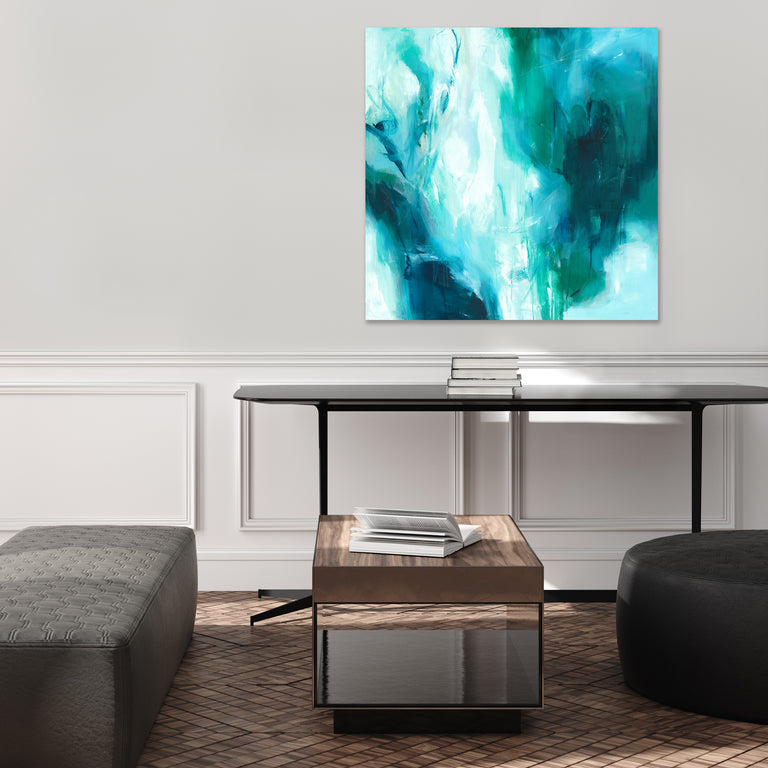 Falling into Your Blue by Giselle Kelly (Canvas Wall Art)