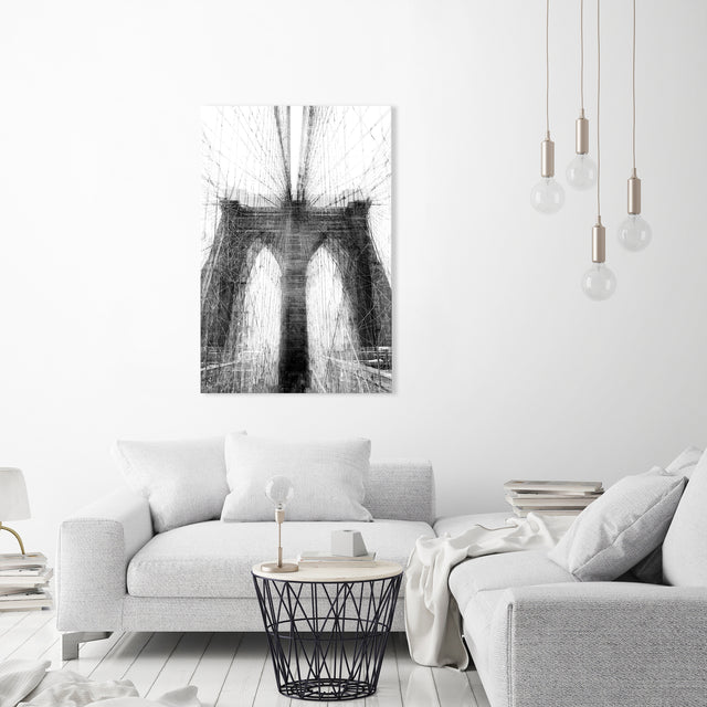 Fractions of Brooklyn Bridge by Guseul Park | stretched canvas wall art