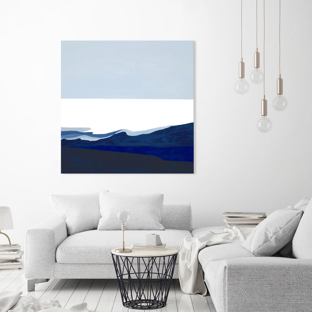 Deep Blue Flow I by Sara Brown | stretched canvas wall art