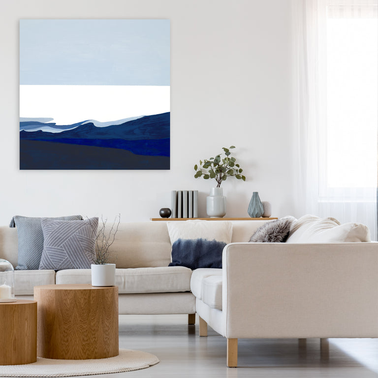 Deep Blue Flow I by Sara Brown (Canvas Wall Art)