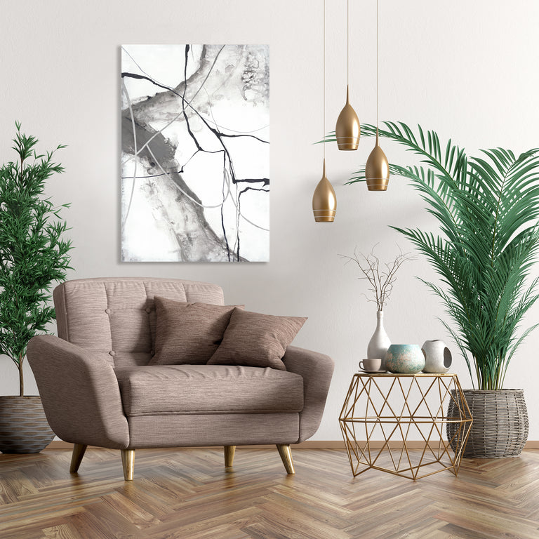 Gray Waterfall I by Sara Brown (Canvas Wall Art)