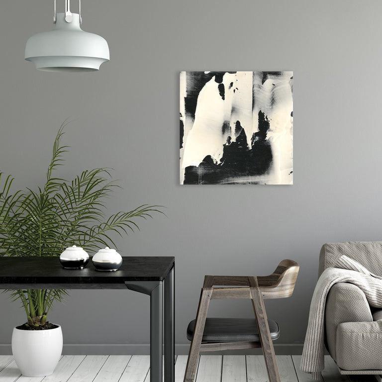 Overlap in Black and White by Victor Ryan | stretched canvas wall art