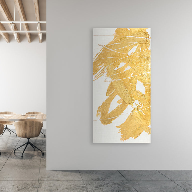 Golden Whirlwind I by Beverly Fuller | stretched canvas wall art