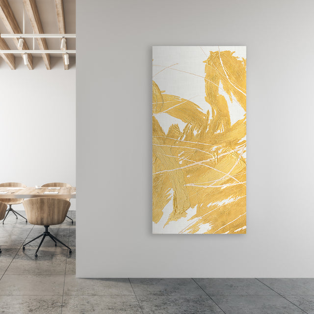 Golden Whirlwind II by Beverly Fuller | stretched canvas wall art