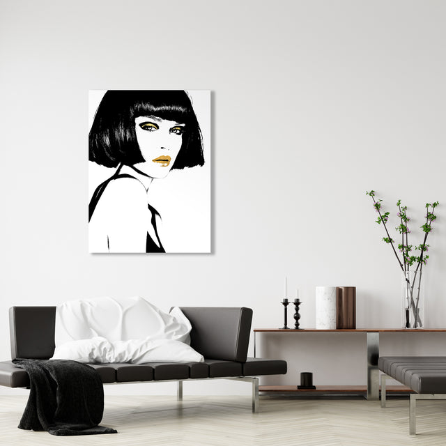 Swag I by Kelly Ellis | stretched canvas wall art