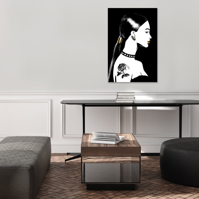 Back to Black IV by Kelli Ellis | stretched canvas wall art