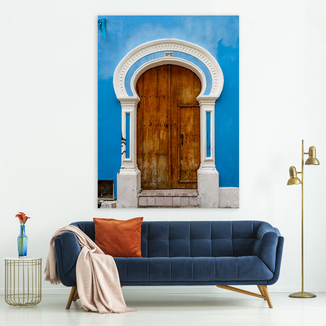 Cartagena Door IV by Mitchell Bloch | stretched canvas wall art