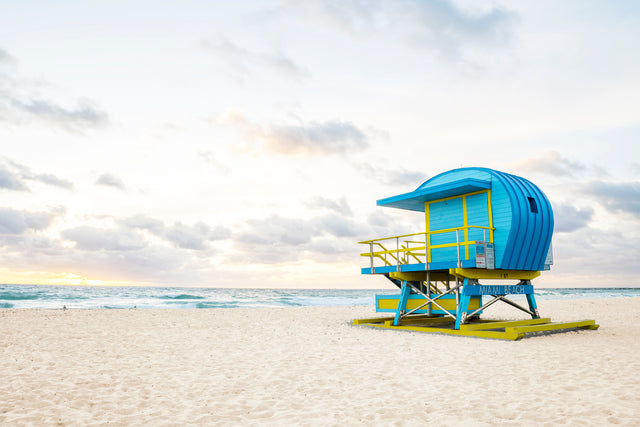 Lifeguard Stand II by Adam Mowery | stretched canvas wall art