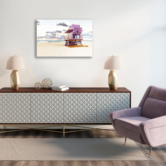 Lifeguard Stand III by Adam Mowery | stretched canvas wall art