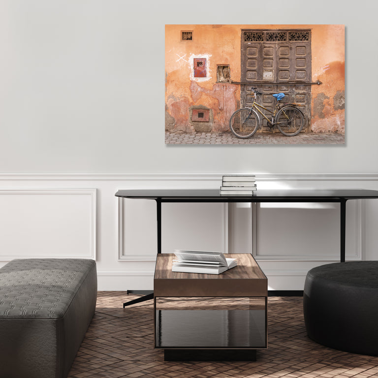 Marrakech Bike by Richard Silver | stretched canvas wall art
