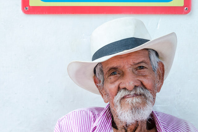 Colombian Farmer by Richard Silver | stretched canvas wall art