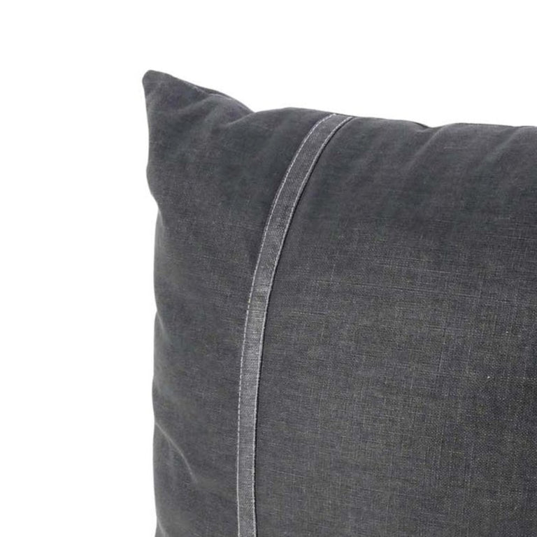 CHARCOAL COTTON SQUARE PILLOW