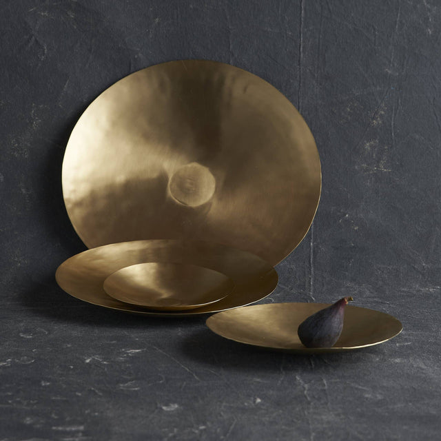 BRASS SERVING PLATES