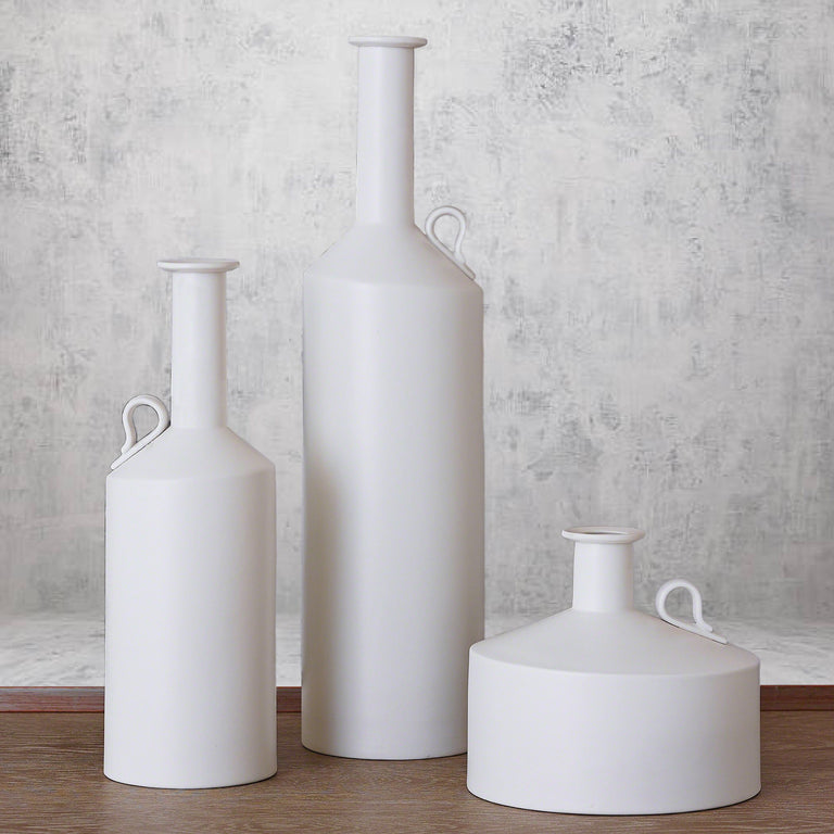 WHITE METRO BOTTLE VASES