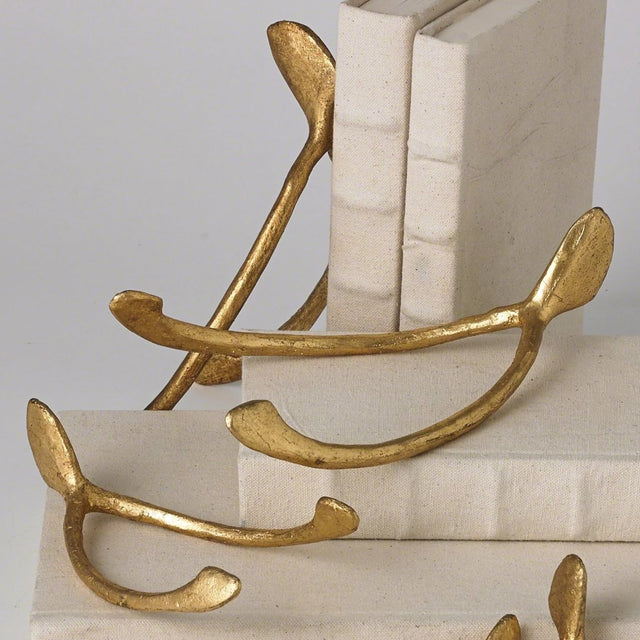 GOLD WISHBONE PAPERWEIGHTS | OBJECTS