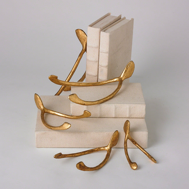 GOLD WISHBONE PAPERWEIGHTS