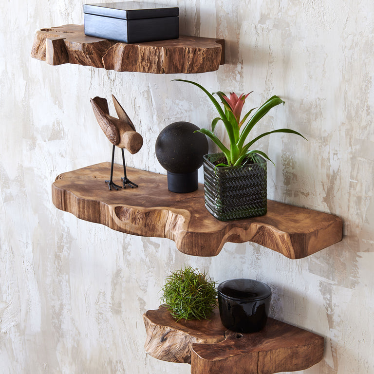 TAKARA LIVE EDGE SHELF | WALL DECOR