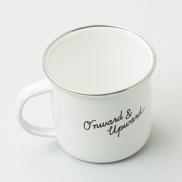 WHITE ENAMEL COFFEE MUG