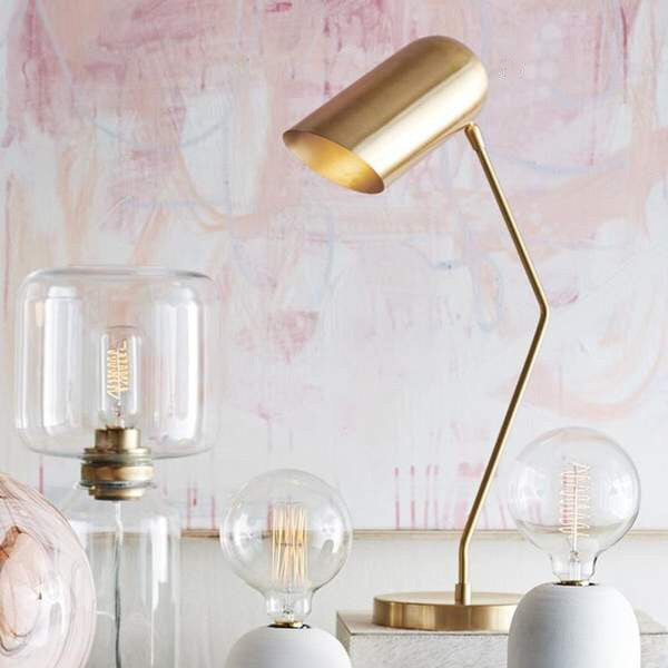 BRASS INCLINE TABLE LAMP