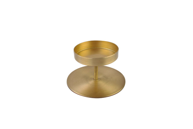 GOLD PILLAR CANDLE HOLDER 2.5""