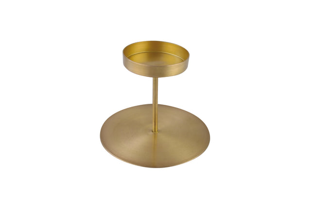 GOLD PILLAR CANDLE HOLDER 4.5""