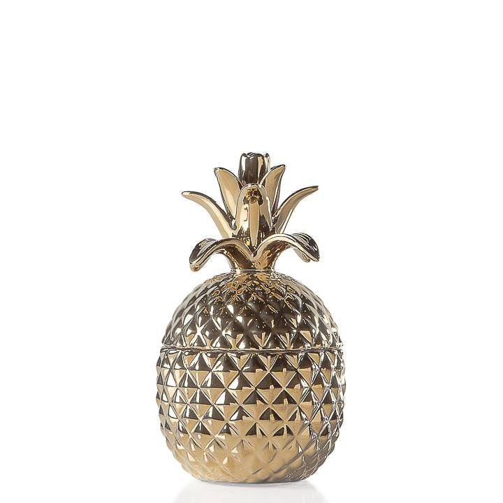 GOLD CERAMIC PINEAPPLE JAR