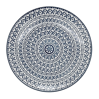 "KIRI BLUE STITCH PORCELAIN 8.5"" PLATES"