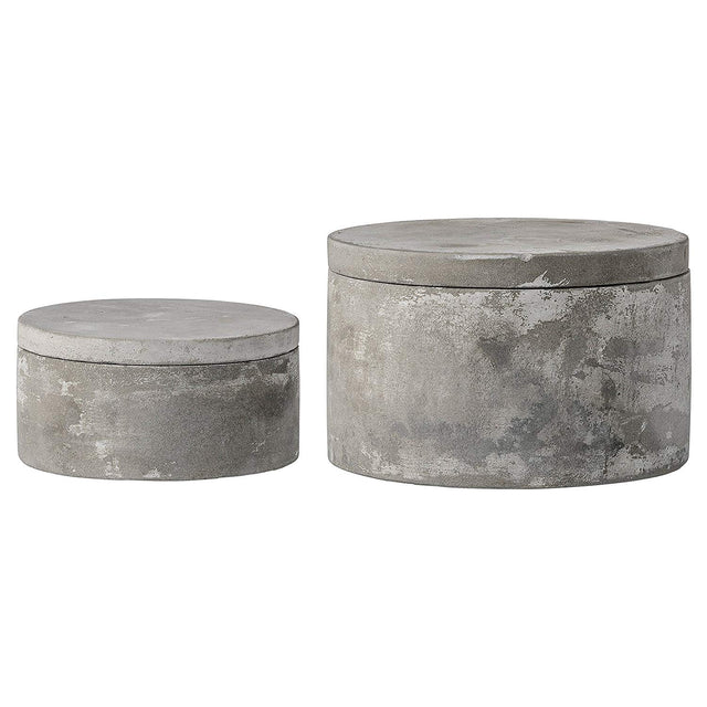 CEMENT BOXES W/ LIDS