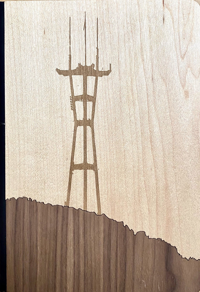 WOOD NOTEBOOKS | SAN FRANCISCO | SUTRO TOWER