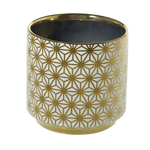 GOLD STAR FLOWER POT