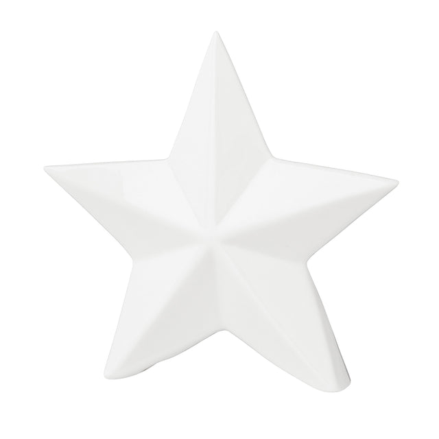 WHITE PORCELAIN STAR