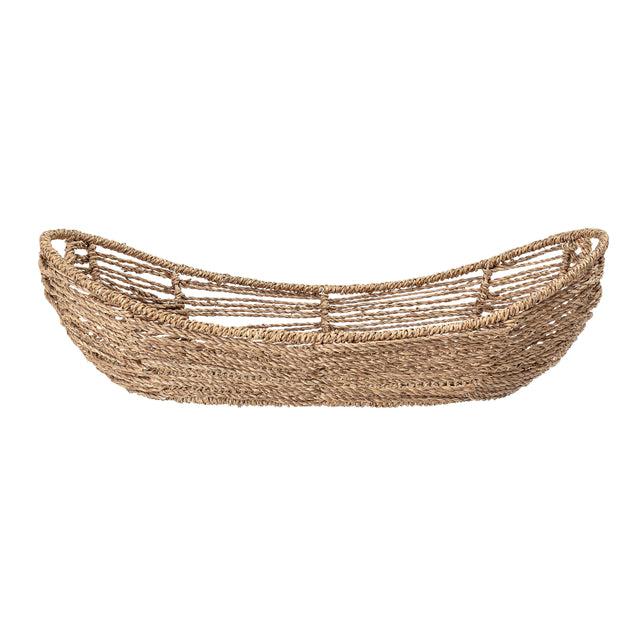 HANDLED SEAGRASS BASKET NATURAL