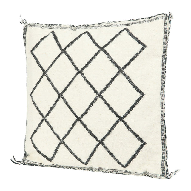 BLACK & WHITE MOROCCAN DIAMOND PILLOW | PILLOWS