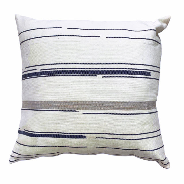 WHITE GRAPHIC DELUX THROW PILLOW (FROM GUATEMALA)