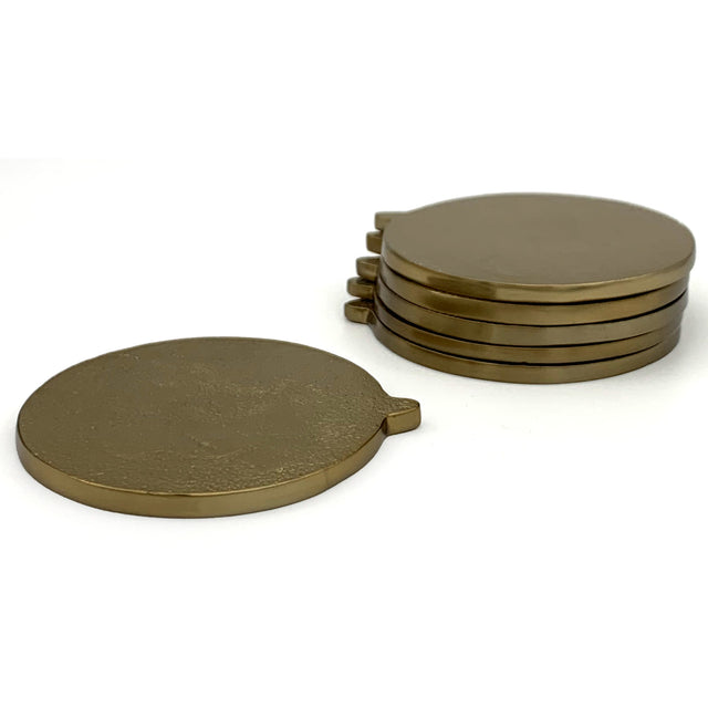 BRASS COASTERS (set of 2) | COASTER | STAG & MANOR