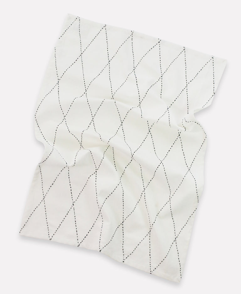BONE WHITE TEA TOWELS (INDIA)